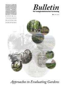 Bulletin för trädgårdshistorisk forskning nr 28 2015 - försättsblad
